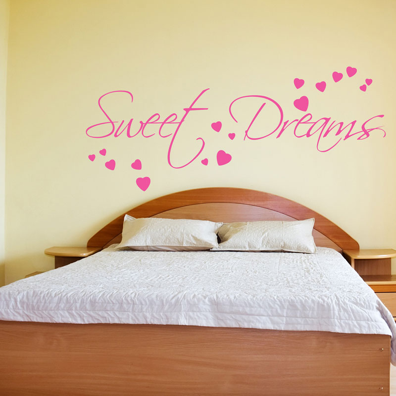 SWEET DREAMS WALL STICKER ART DECALS QUOTES BEDROOM W43