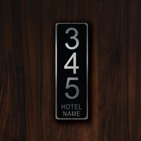 CUSTOM HOTEL ROOM Number Sign