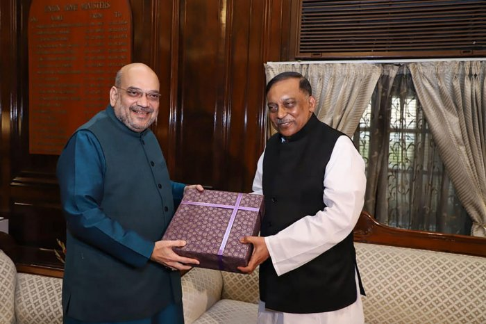 Image result for amit shah and bangladesh minister