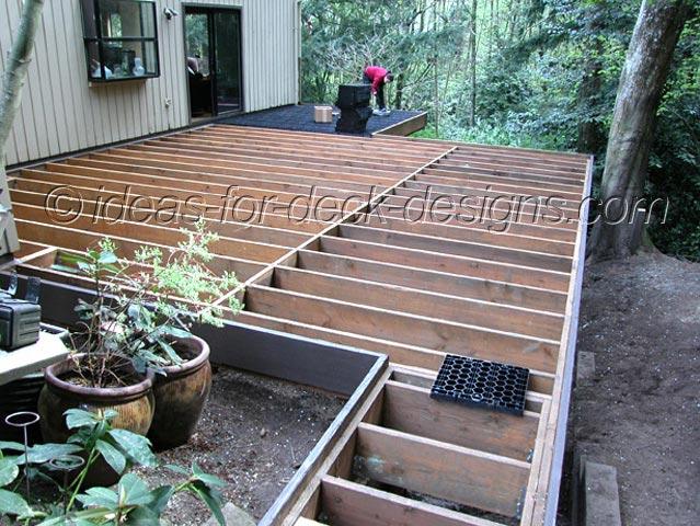 Wood Deck Pavers Framing Deck