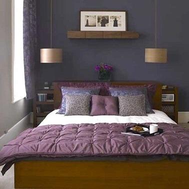 8 idées peinture pour une chambre d\u0027adulte avec du violet