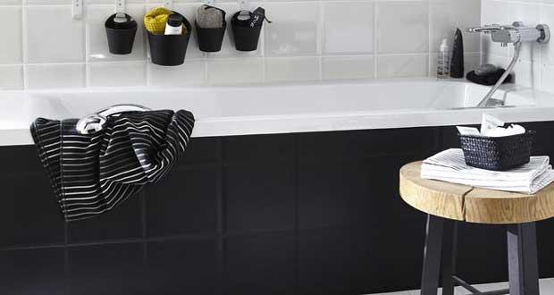 Peinture carrelage - Dossier spécial salle de bain et cuisine - Repeindre Du Carrelage De Salle De Bain