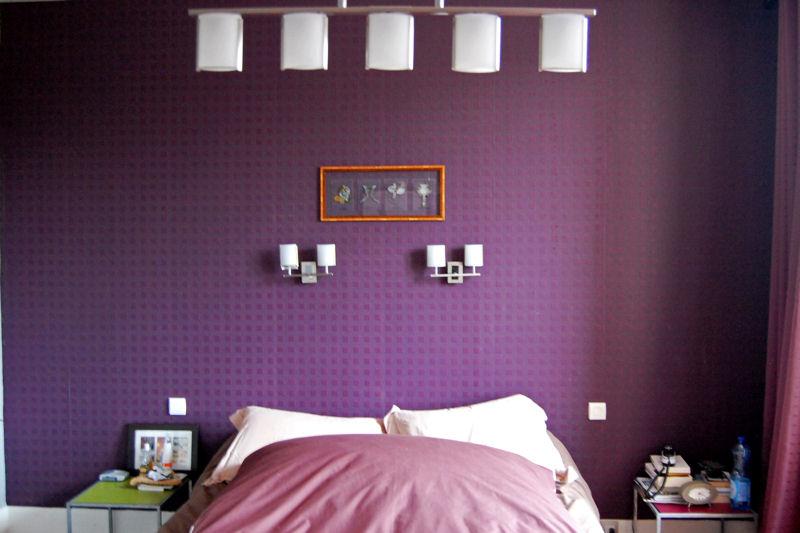 Chambre Mauve Et Gris - Maison Design - Apsip
