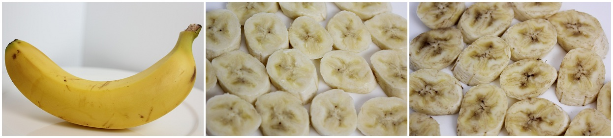 Banana, whole, fresh, and brown