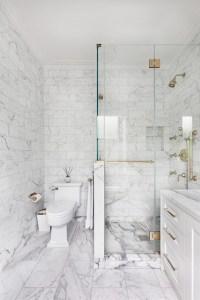 Carrera White Marble Bathroom - Bathroom Design Ideas