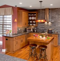 Fancy and Natural Cherry Kitchen Cabinets | Decohoms