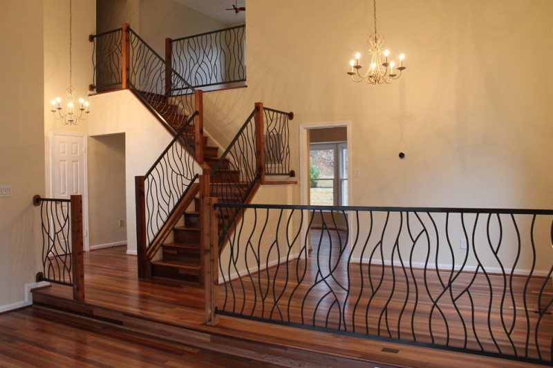 Wrought Iron Stair Railings For Stunning Interior