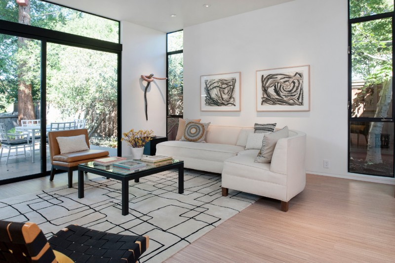 Be Simple yet Modern with These Black and White Living Room Sets - white living room sets