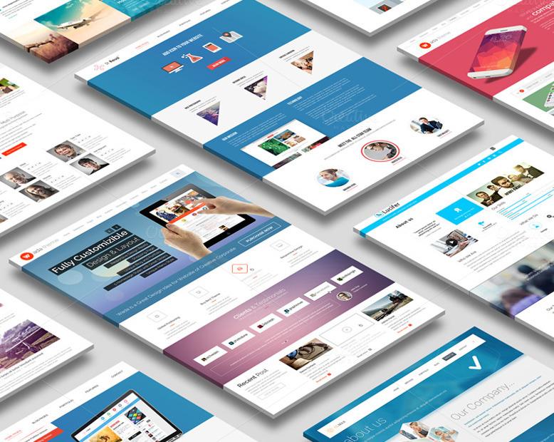 30+ Perspective Website Design PSD Mockups DecoloreNet