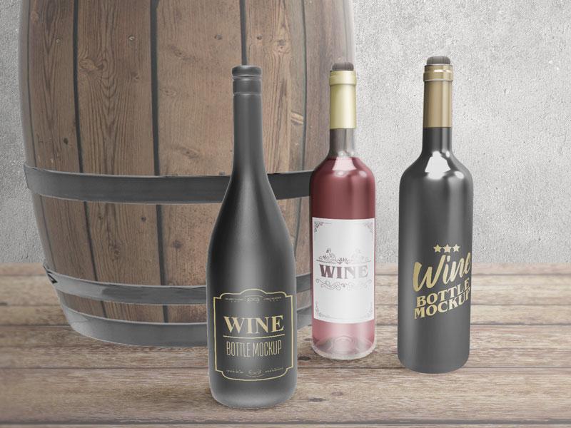 50+ Best Wine Bottle PSD Mockup Templates DecoloreNet - free wine label design