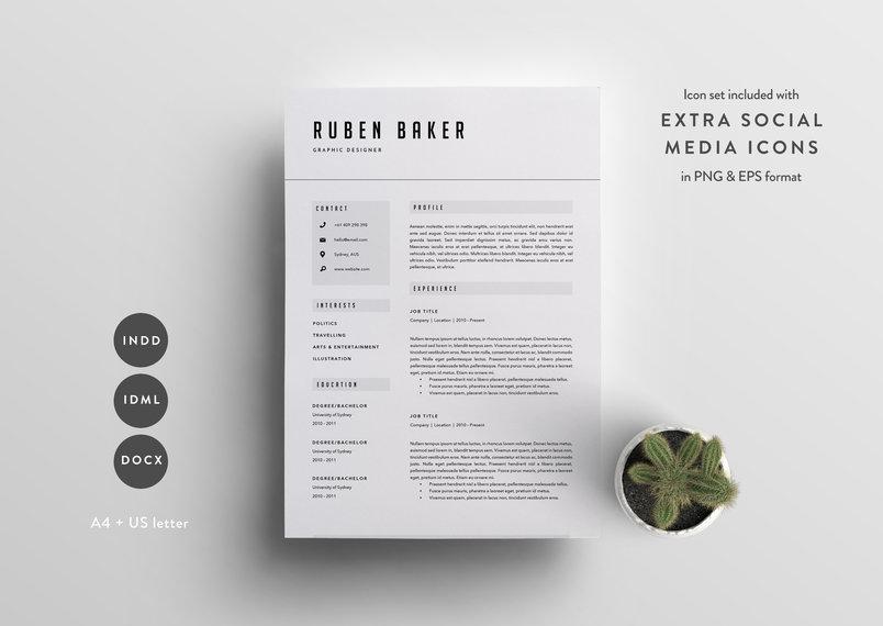 50+ Best Clean  Useful CV / Resume Templates DecoloreNet