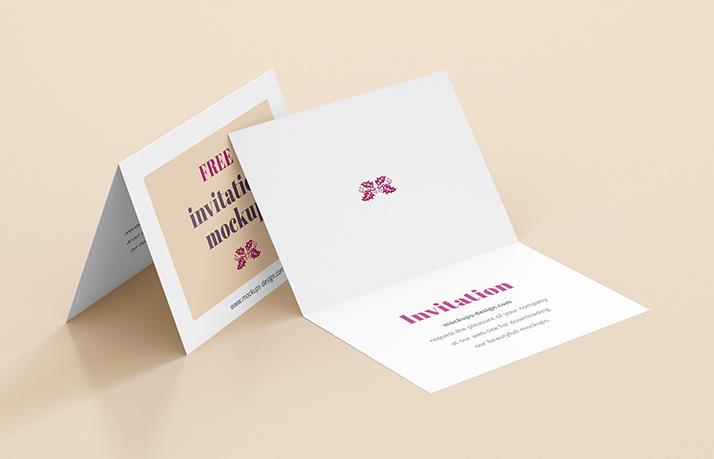 50 Invitation Greeting Card Mockup Designs Decolorenet