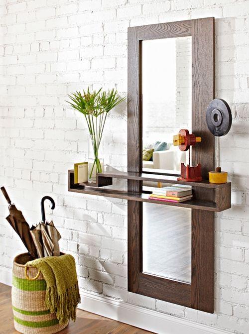 Diy mueble funcional para decorar la entrada de casa - Mueble para entrada ...