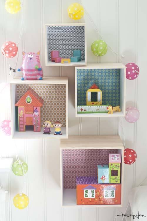 Decorar cajas de madera para habitaciones infantiles - Estanterias infantiles originales ...