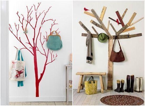 Decoracion Recibidores Ikea ~ Vinilo ?rbol y listones varios para un perchero original Fotos