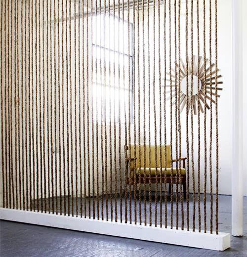Separar ambientes sin muebles ni tabiques