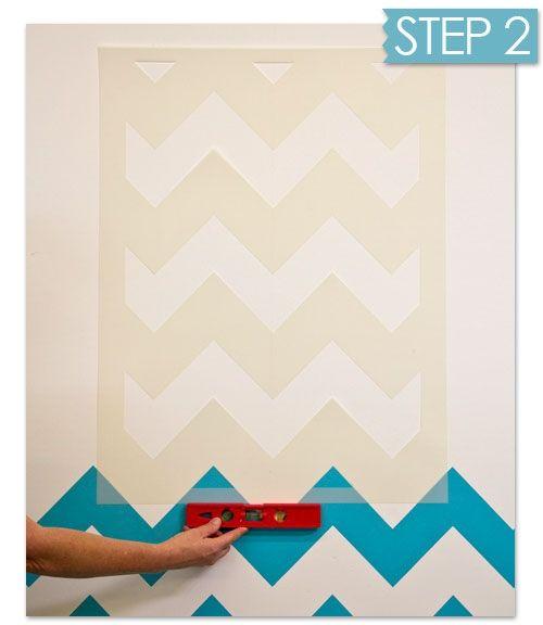 Nuevas ideas geom tricas con plantillas para pintar - Plantillas pintar pared ...