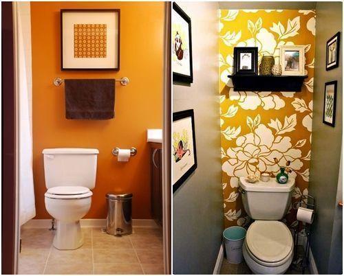 Baños Amarillos Pequenos:Cómo decorar baños pequeños