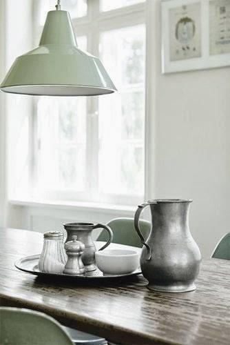 Lámparas industriales en acero esmaltado para decoración vintage