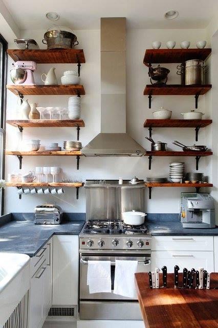 Estanter as de madera baratas para cocinas con encanto - Estanterias baratas ikea ...