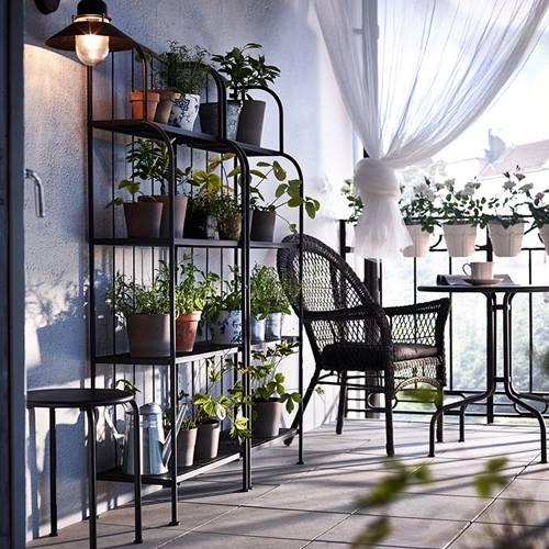 Muebles de terraza para espacios peque os by ikea for Dec para terrazas