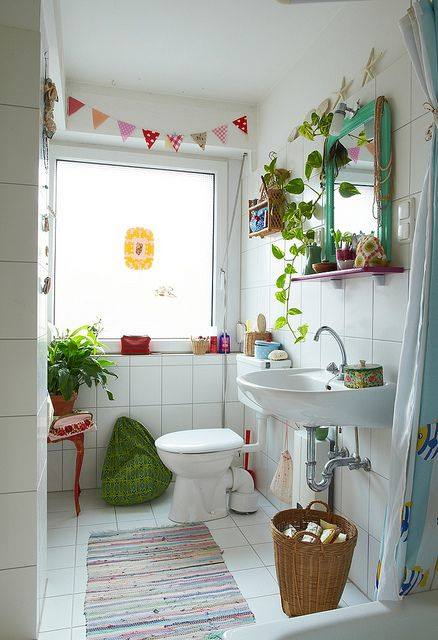 Decoracion Baño Vintage:decoracion de cuartos de baño pequeños con ideas vintage 1