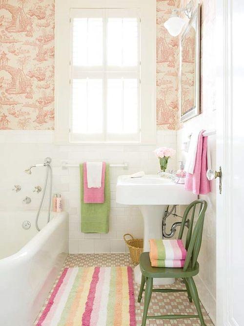 decorar lavabos antiguos : decorar lavabos antiguos:Decoración de cuartos de baño pequeños con ideas vintage 10