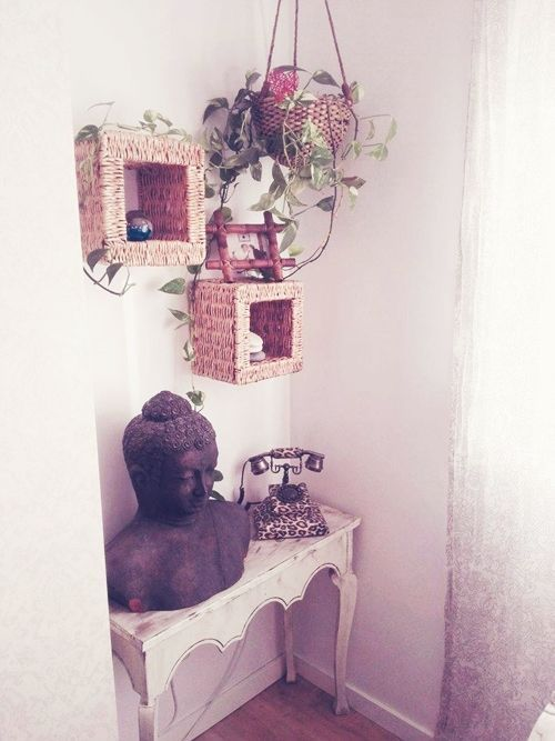 Casas con encanto piso pequeño con decoración boho chic singular 14