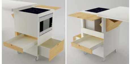 Ahorrar espacio, dos soluciones: cocina y mesa