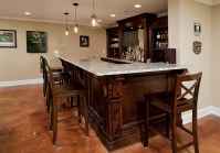 Custom Built Unique Basement Wet Bar Design Ideas