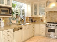 Cream Kitchen Cabinets Countertops Ideas | Remodeling