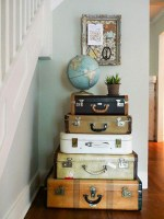 Decorating With Vintage Luggage