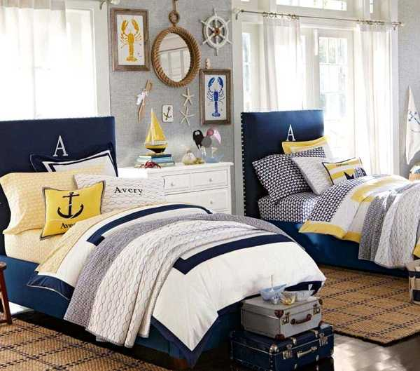 Nautical Decorating Ideas for Kids Rooms from Pottery Barn Kids - nautical bedroom ideas