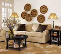 Modern Wall Decoration With Ethnic Wicker Plates, Bowls ...