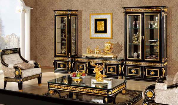Modern Classic Living Room Furniture in Italian Style - italian living room sets