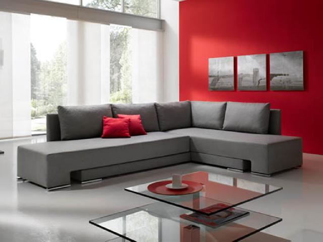 Decorar salón en rojo, negro y gris - Techos altos Decoracion de - deco salon rouge et blanc