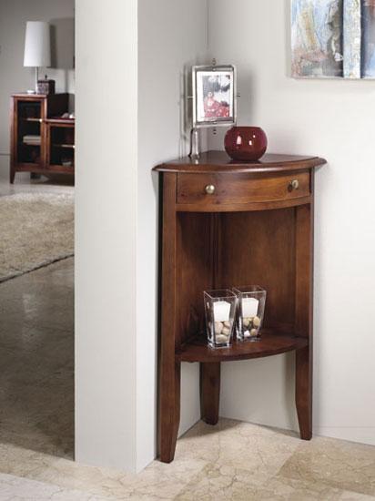 Detalle de mueble cajonera en escritorio enchapado en madera natural
