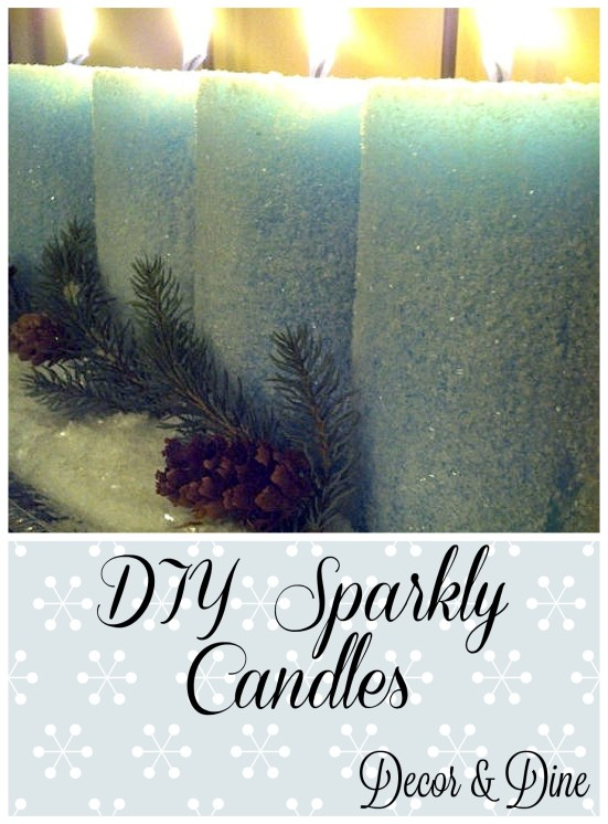 DIY sparkly candle