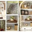 Scrapbook paper shelves
