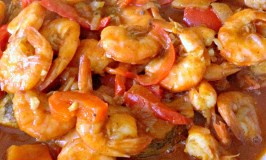 Whiting and Shrimp in beer sauce
