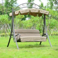 Patio Swing with Iron Frame (YZ-011) | Decoraport Canada