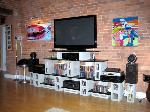 Muebles Con Bloques De Hormigon Decorar Hogar