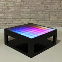 Interactive coffee table with LED lights Mypixeek.