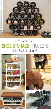 Shoe Storage DIY Projects for Small Spaces | Decorating ...