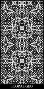 Floral Geo Decorative Screen Design