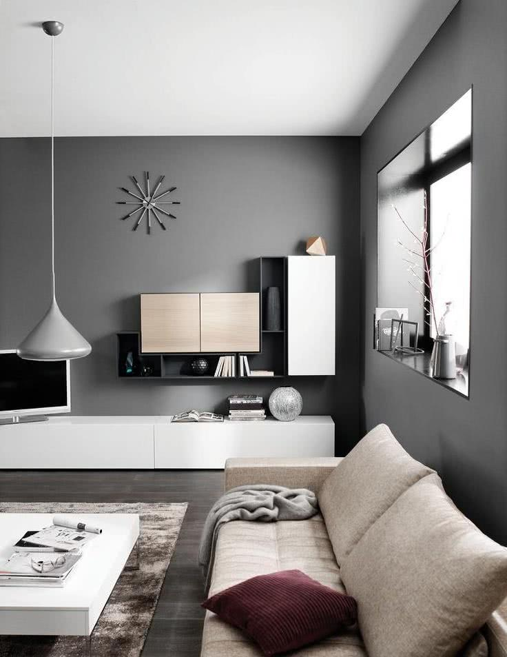 17 Awesome Living Rooms With Grey Accent Light gray couch, Dark - wohnzimmer design weiss