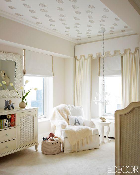 Wallpaper Ideas For Baby Girl Nursery Papel De Parede No Teto 60 Fotos E Refer 234 Ncias