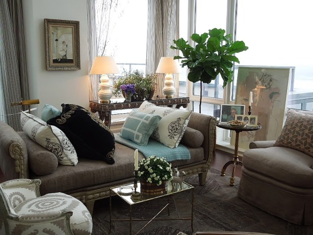 Living room by Susan Zises Green
