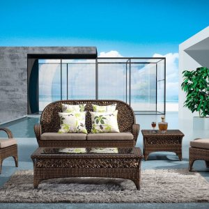 Home Decor Wicker 4 Piece Patio Conversation Set