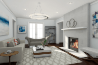 How to get a high-end contemporary living room design on a ...